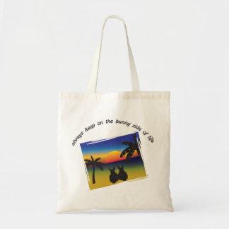 Keep on the Bunny Side of Life Canvas Bag