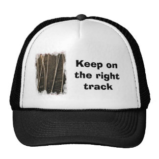 Keep on the right track trucker hat