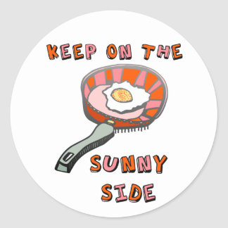 Keep on the Sunny Side Classic Round Sticker