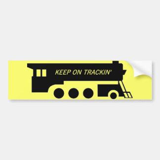 Keep on Trackin' By Train Bumper Sticker