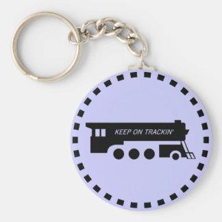 Keep on Trackin' By Train Keychain