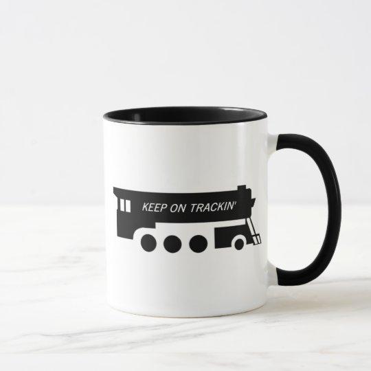Keep on Trackin' By Train Mug