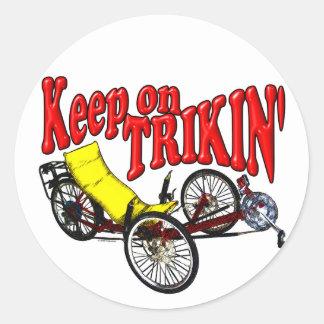 Keep On Trikin' Classic Round Sticker