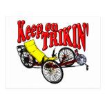 Keep On Trikin' Postcard