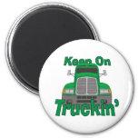 Keep on Truckin' 2 Inch Round Magnet