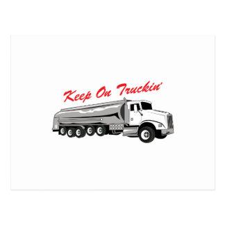 Keep On Truckin Postcard