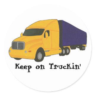 Keep on Truckin', truck on Affirmation stickers