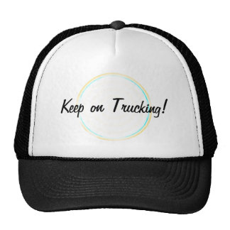 Keep on Trucking Concentric Circles Cap Trucker Hat