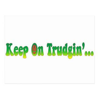 Keep On Trudgin Postcards