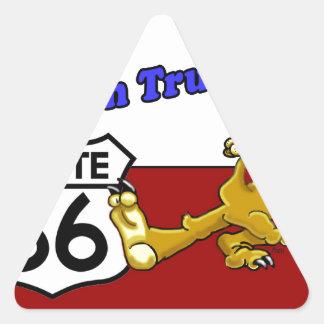 Keep On Truxton Camel Route 66 Arizona Triangle Sticker