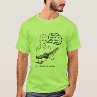 Keep on uke-in' the free world (Ukulele) T-Shirt