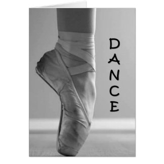 """KEEP ON YOUR TOES, DANCE """"30th"""" BIRTHDAY Card"""