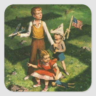 Keep Our Families Safe - Buy War Bonds Square Sticker