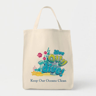 Keep Our Oceans Clean Canvas Bags
