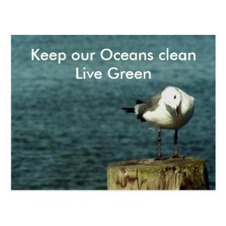 Keep our Oceans clean Postcard