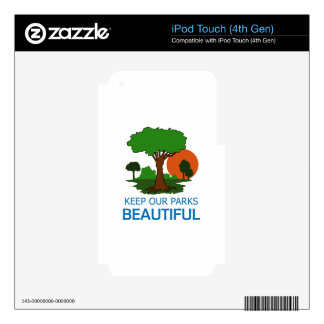 Keep Our Parks Beautiful iPod Touch 4G Decal