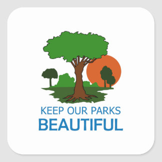 Keep Our Parks Beautiful Square Stickers