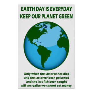 KEEP OUR PLANET GREEN PRINT