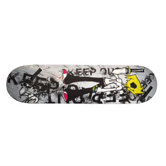 KEEP OUT Bad Girl Skateboard Deck