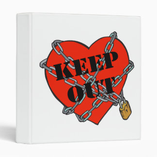 keep out chained heart vinyl binder