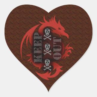 keep out heart sticker