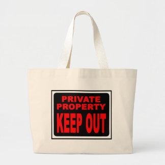 KEEP OUT JUMBO TOTE BAG