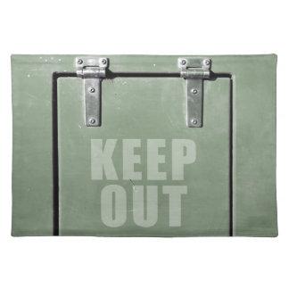 keep out metal door cloth placemat