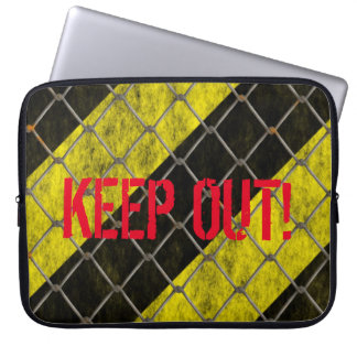 KEEP OUT! -NEOPRENE LAPTOP CASE- LAPTOP COMPUTER SLEEVE