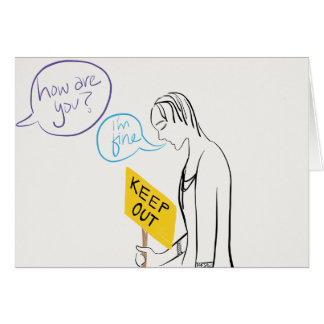 Keep Out Notecard