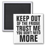 Keep Out of the Fridge Slam Refrigerator Magnet