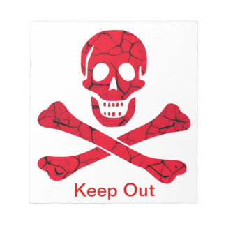 Keep Out Skull Notepad