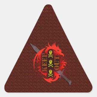 Keep out triangle sticker