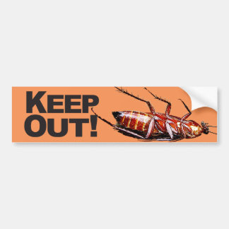 Keep Out w/Roach - Bumper Sticker