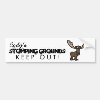 Keep out wildlife Room Bumper Sticker