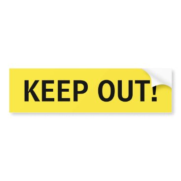 Professional Business Keep out yellow and black sticker