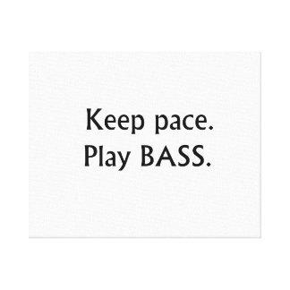 Keep pace Play Bass black text design Canvas Print
