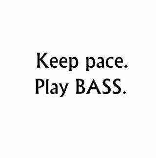 Keep pace Play Bass black text design Photo Sculpture