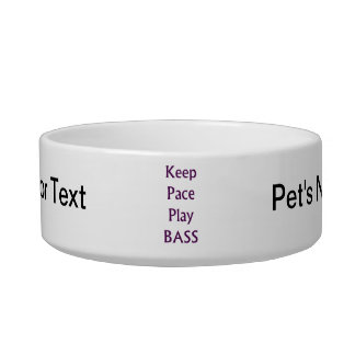 Keep pace Play bass purple text Bowl