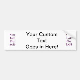 Keep pace Play bass purple text Bumper Sticker