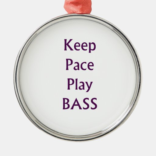 Keep pace Play bass purple text Christmas Ornament