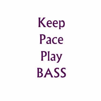 Keep pace Play bass purple text Photo Sculpture