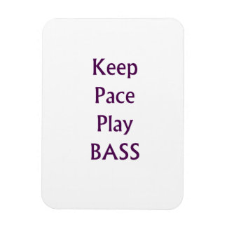 Keep pace Play bass purple text Magnet