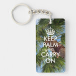 Keep Palm and Carry On Rectangle Acrylic Key Chains