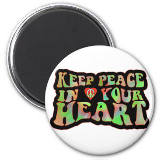 Keep Peace in your Heart 2 Inch Round Magnet