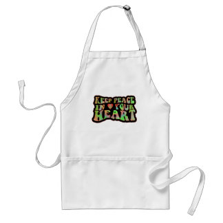 Keep Peace in your Heart Adult Apron