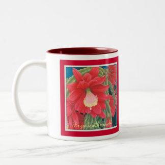 Keep peace within your soul! Two-Tone coffee mug