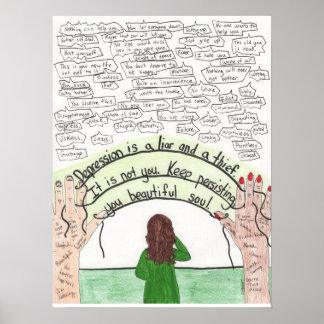 Keep Persisting (Depression) 18x24 Poster