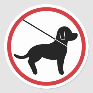 Keep Pets On Leash Classic Round Sticker
