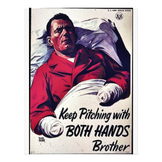 Keep Pitching With Both Hands Brother Full Color Flyer