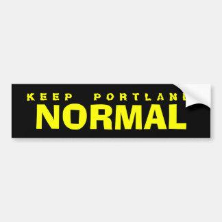 KEEP PORTLAND NORMAL BUMPER STICKERS